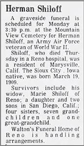 Herman Shiloff's obituary