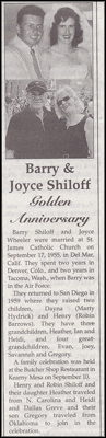 50th Wedding Anniversary article