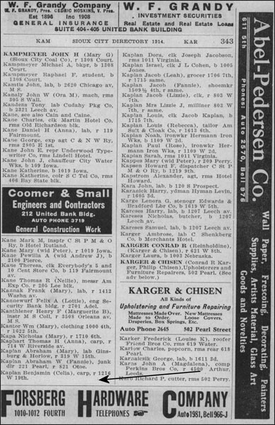 Newspaper listing for Ben Kaplan