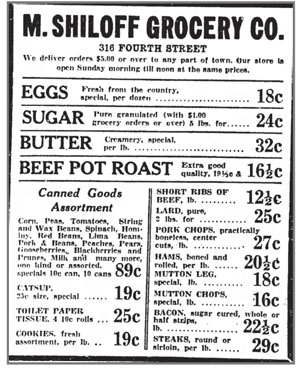 Advertisement from Myer's store in 1930 Sioux City Journal