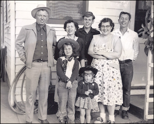 Mollie, Jim, and family