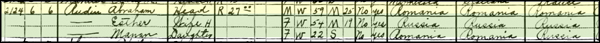 Rudin family in 1930 Federal Census in California