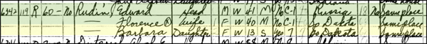 Rudin family in a census